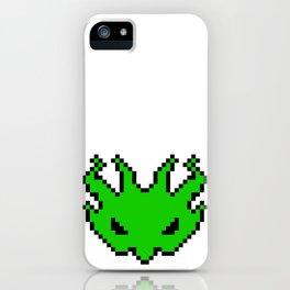 Pixel Invader : Green iPhone Case