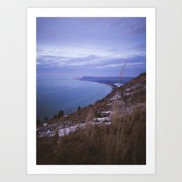 Empire Bluff Sunset | Sleeping Bear Dunes, Michigan | John Hill Photography Art Print