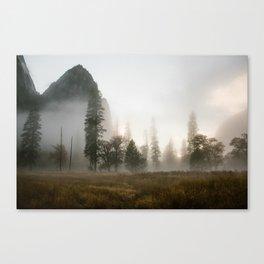 Yosemite Valley in Fog Canvas Print