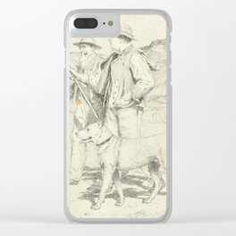 ANKER, ALBERT (1831 Ins 1910) Two hikers with dog. Clear iPhone Case
