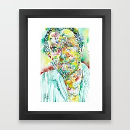 CHARLES BUKOWSKI - watercolor portrait.2 Framed Art Print