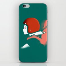 Moped Girl iPhone & iPod Skin