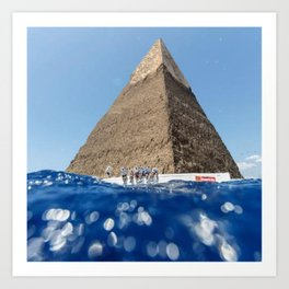 Pyramid Sail Art Print