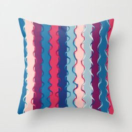 Stripes and lines Throw Pillow