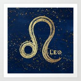 Leo Zodiac Sign Art Print