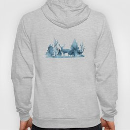Blue marble abstraction Hoody