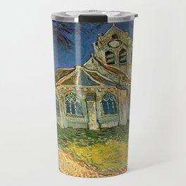 Vincent van Gogh's L'eglise d'Auvers sur Oise Travel Mug
