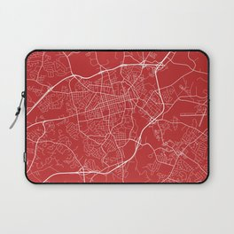 Athens Map, USA - Red Laptop Sleeve