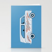 grease Stationery Cards featuring Grease Van Lightning by Brandon Ortwein