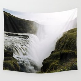 Gullfoss waterfall in Iceland - Landscape Photography Wall Tapestry