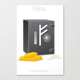 Runes Series - Fehu Canvas Print
