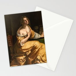 Artemisia Gentileschi, Self Portrait as Mary Magdalene, 1616 Stationery Cards