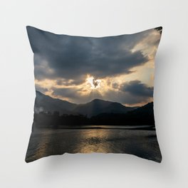 Shining Eye on the Sky Throw Pillow