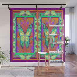 Ethereal Monarch Butterflies Violet Western Style  Abstract Wall Mural
