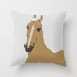Abstract Palomino Horse Throw Pillow