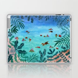 Meet me somewhere in the middle Laptop & iPad Skin