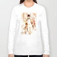 vienna Long Sleeve T-shirts featuring The Fiaker in Vienna by Vargamari
