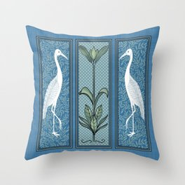 Art Nouveau Style Birds Throw Pillow