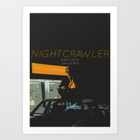 nightcrawler Art Prints featuring NIGHTCRAWLER by Munty