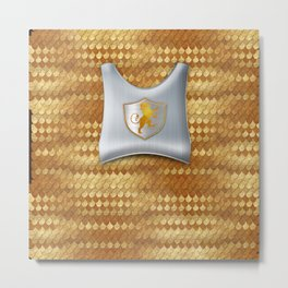 Knights Armor Platemail and Chest Piece Halloween Costume Tee Metal Print