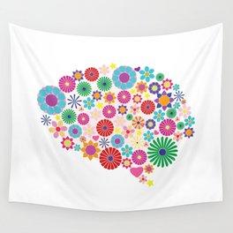 Flower brain Wall Tapestry