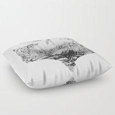 Skull Lady Floor Pillow
