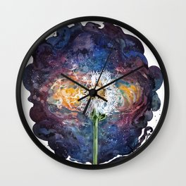 Dandelion of the universe Wall Clock