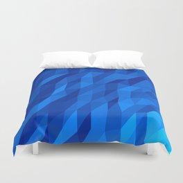 Blue Polygon v1 Duvet Cover