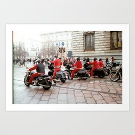 Riding In Red Art Print