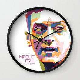 Mesut Ozil WPAP 1 Wall Clock