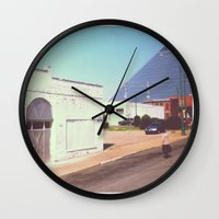 memphis Wall Clocks featuring Memphis by lizzy gray kitchens
