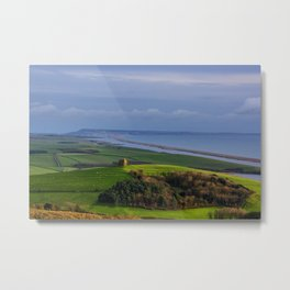St Catherines Chapel and Chesil Beach Metal Print