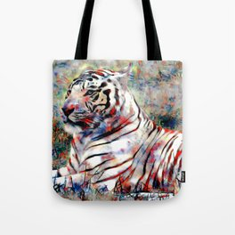 vibrant tiger Tote Bag