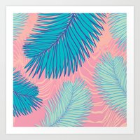 palm Art Prints featuring Palm by haytay