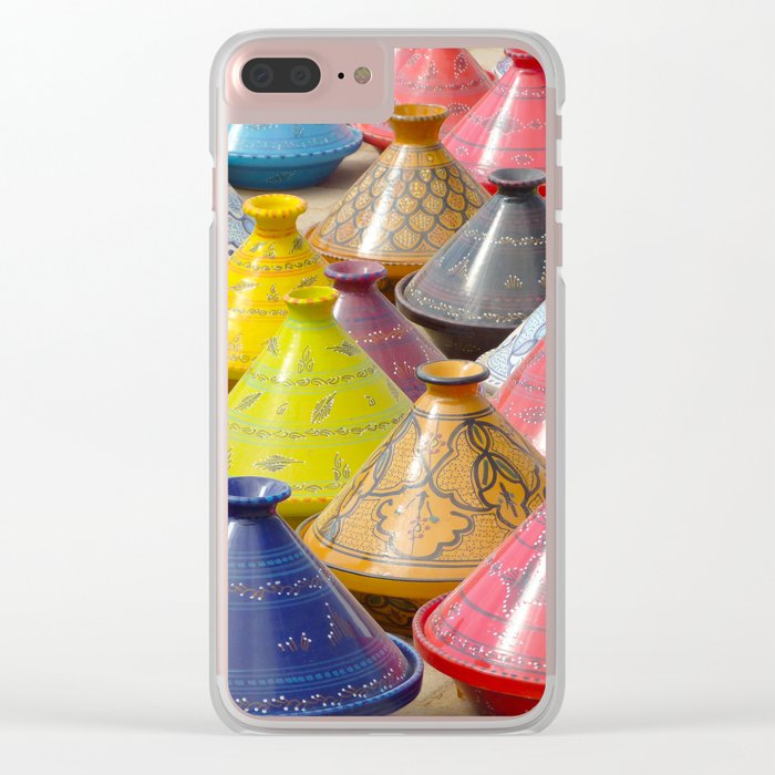 Dish to tajine, Djerba, Tunisia, Clear iPhone Case