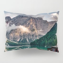 Italy mountains lake Pillow Sham