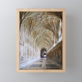 Magnificent Church Cloister | Gloucester Cathedral | England | Fine art travel photography Framed Mini Art Print