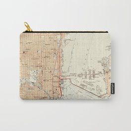 Vintage Map of Miami Florida (1950) Carry-All Pouch