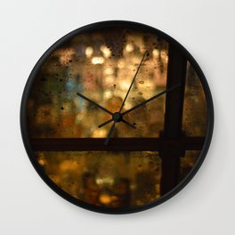 Late Night Bar in New York Wall Clock