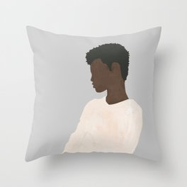 Ivory Sweater Throw Pillow
