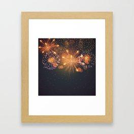 Happy Fireworks Framed Art Print