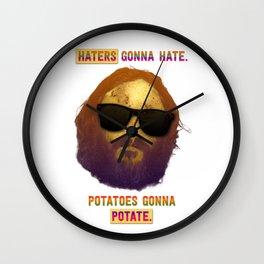 Haters Potatoes !!! Wall Clock
