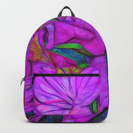 Rhododendron Fuscia Pink Backpack