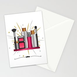 Makeup | Makeup lover | Clothes | Shirts | Gifts for her | Present | Salon | Organizer | Girls | Stationery Cards