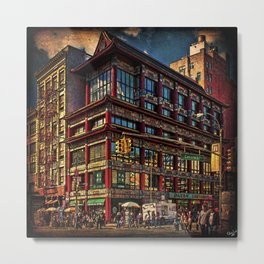The Chinese Bank Building Metal Print