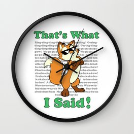What the Fox Said Wall Clock