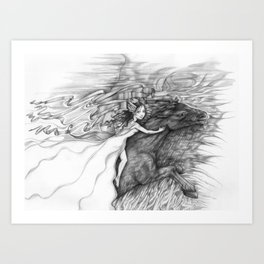 Bringing In The Dark Clouds Art Print