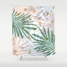 abstract leaf pattern Shower Curtain