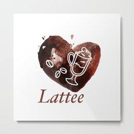 lattee Metal Print