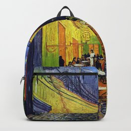 Van Gogh, Café Terrace at Night 1888 Artwork Reproduction, Posters, Tshirts, Prints, Bags, Men, Wome Backpack